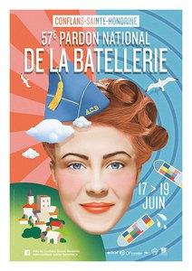 Voici l'affiche du 57ème Pardon de la Batellerie à Conflans-Sainte-Honorine. Programme à venir...